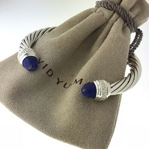 David Yurman Lapis Lazuli Diamond Bracelet 7mm